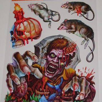 Zombie & rat stickers