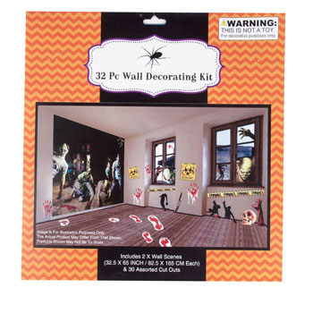 Zombie 32pc Decorating Kit Code 9454 The Halloween Store