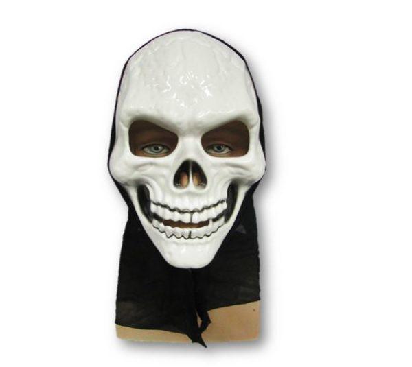 Hooded skeleton mask