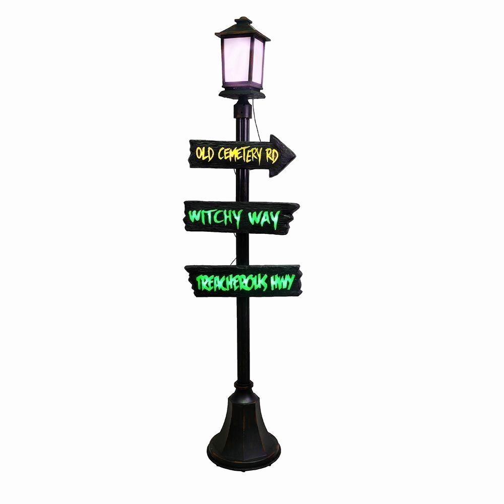 Haunted Lamp Post Code 9295 The Halloween Store