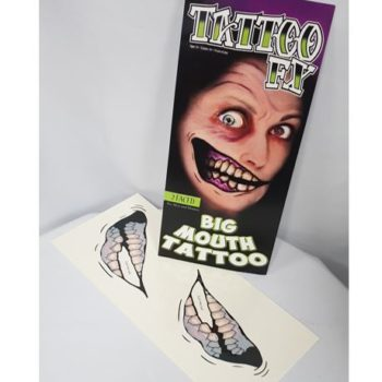 Big mouth tattoo - two face