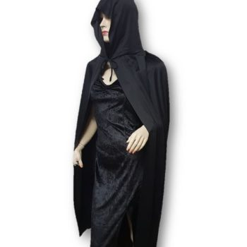 Hooded black cape