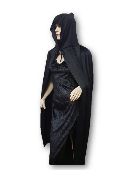 Hooded black cape