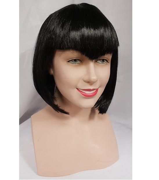 Black vamp style bob wig