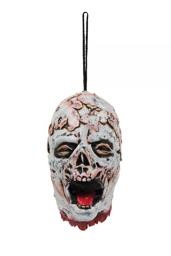 Melting hanging skeleton head
