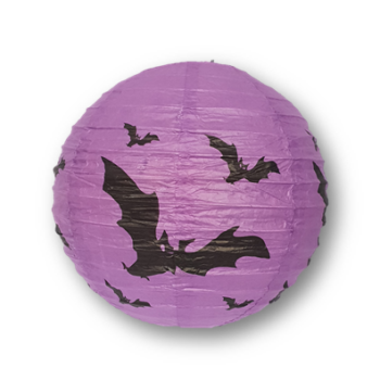 Halloween lantern 20cm purple