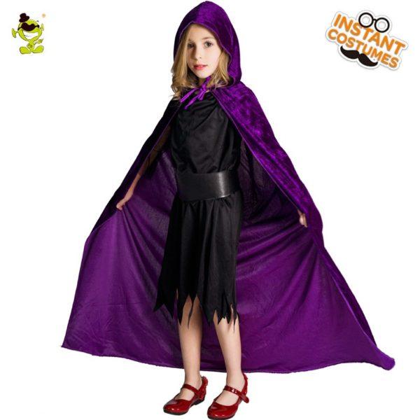 Hooded velvet childs cape