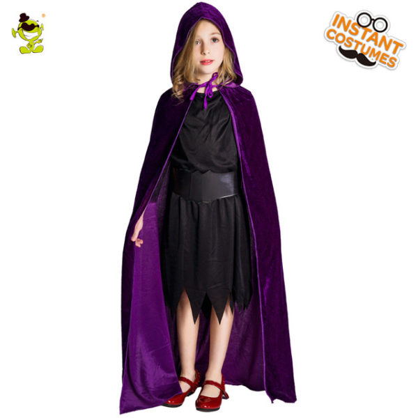 Purple hooded cape