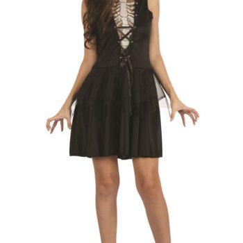 Skeleton ladies costume dress