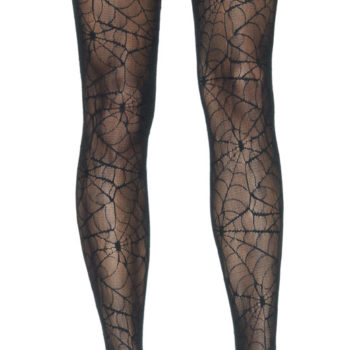 Spiderweb lace thigh high stockings