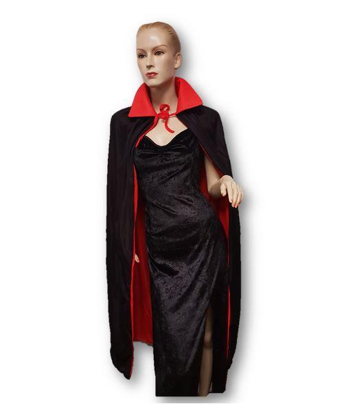 Vampire cape red & black