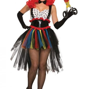 Ladies evil clown costume