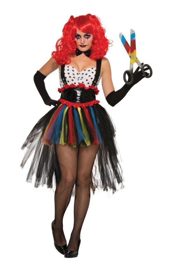 Ladies evil clown costume