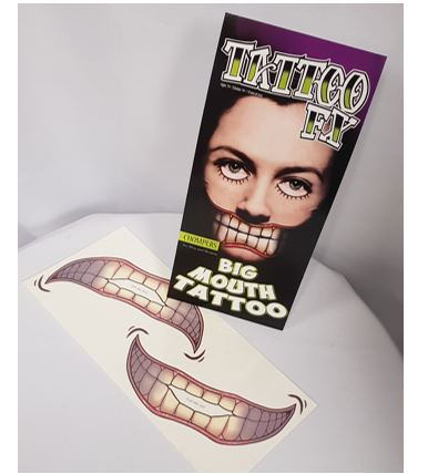 Big mouth tattoo - chompers