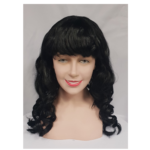Curly wig with fringe