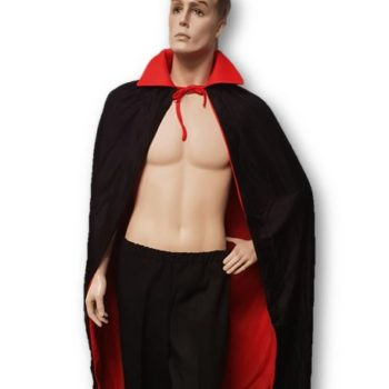 Vampire cape black & red