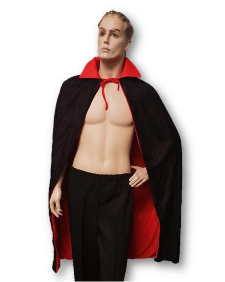 Vampire cape black & red