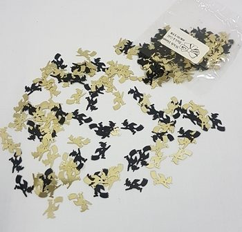 Black & gold witch confetti