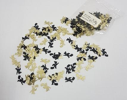 Black & gold witch confetti