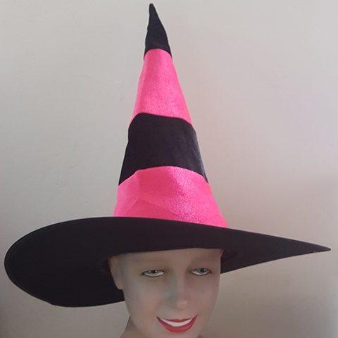 Pink & black witch hat