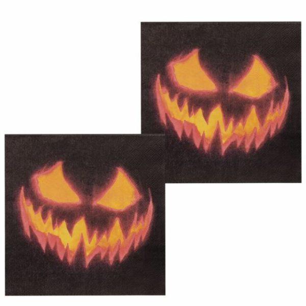 Creepy pumpkin napkins