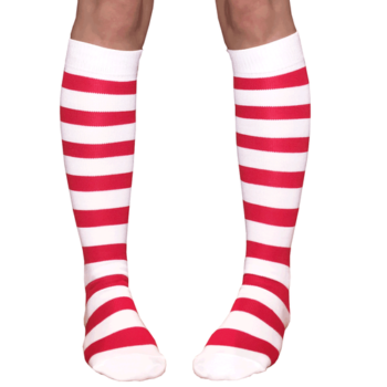 Red & white socks