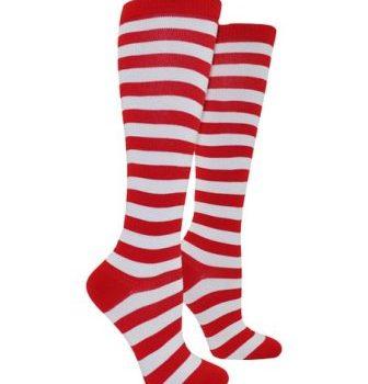 Red & white stripe socks