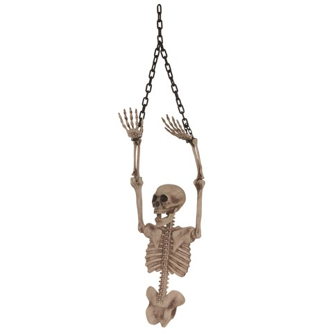 Skeleton torso with chain