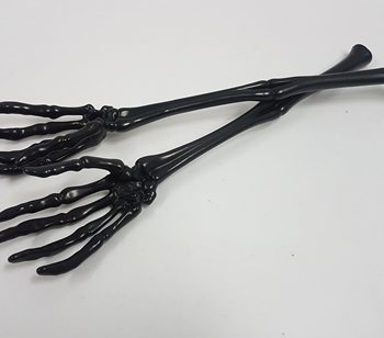 Black skeleton hand serving tongs