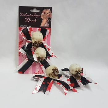 Bloody skull hairbows and clips