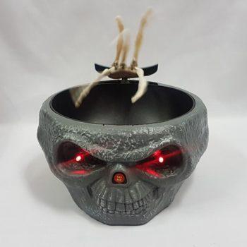 Creepy skull candy bowl