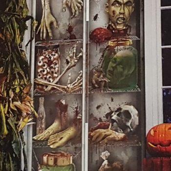 Creepy fridge door cover