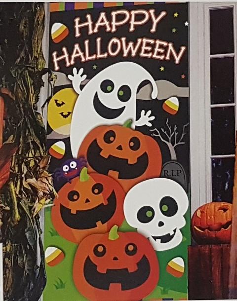 Happy Halloween door cover