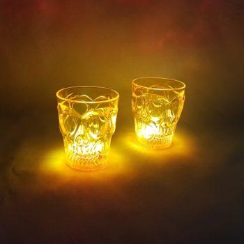 Skull shot glasses LED