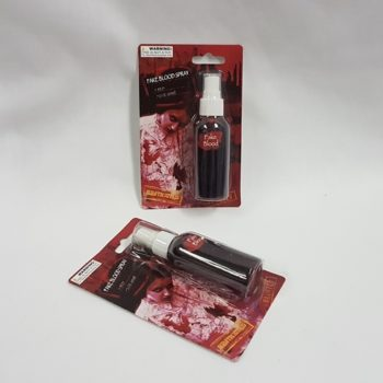 Spray bottle of fake blood