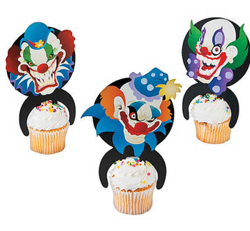 Big top terror character cake picks
