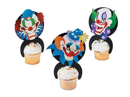 Big top terror character cake picks