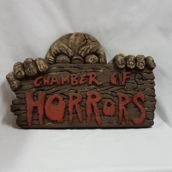 Chamber of horrors sign