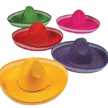 Coloured Mexican sombreros