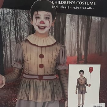 Creepy clown costume child