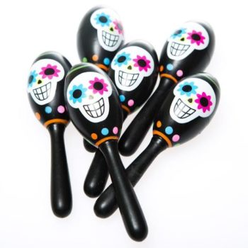 Day of the Dead maracas 6 piece pack
