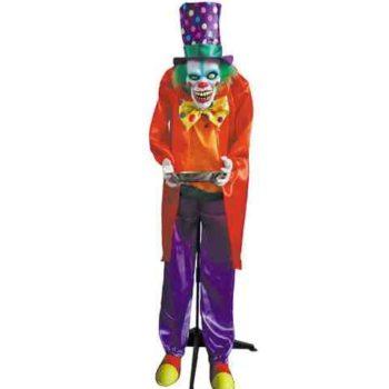 Evil clown waiter animated