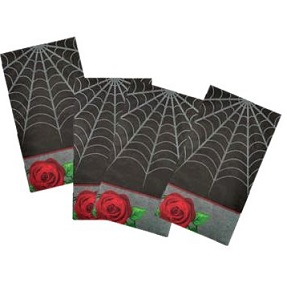 GOthic rose halloween napkins