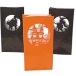 Halloween silhouette luminary bags