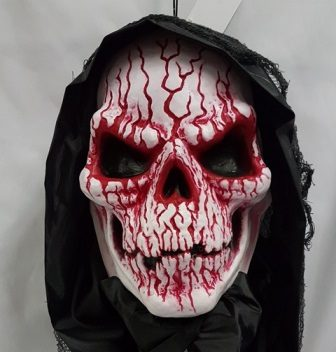 Hanging demon skull light up