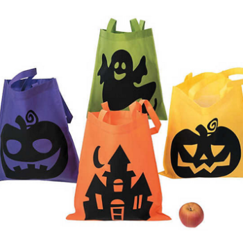 Neon trick or treat bags