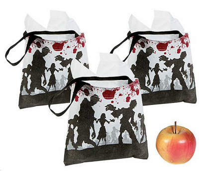 Mini zombie party bags
