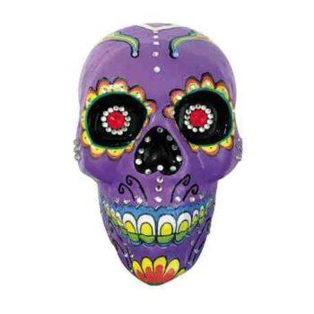 Purple decorated skull
