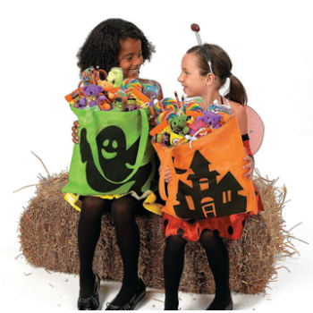 Trick or treat bags - neon