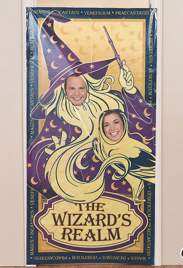 Wizard realm photo door banner